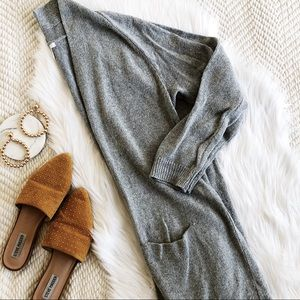 BP gray open front knit cardigan